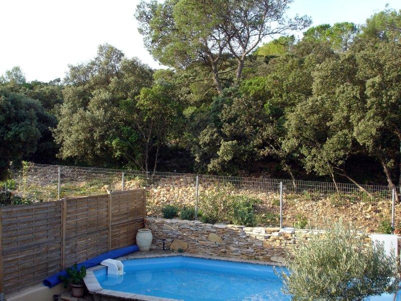 piscine vue depuis chambre